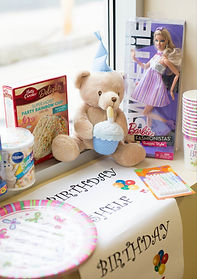 WeCAN Birthday shelf gifts and supplies for kids birthdays