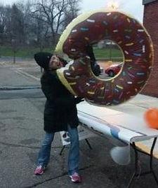 Volunteer Fight Hunger Donut Fun
