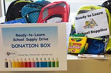 Donation Box for school supplies WeCAN Mound MN
