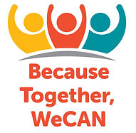 WeCAN logo, Because Together, WeCAN