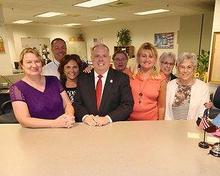 Governor Larry Hogan paid a visit to the office staff.