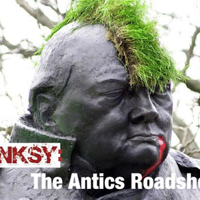 BANKSY features AKIZ & Iepe - Painting Reality in - THE ANTICS ROADSHOW/