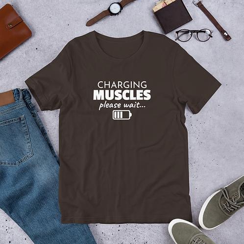 "Short-Sleeve Unisex T-Shirt ""Charging Muscles"""