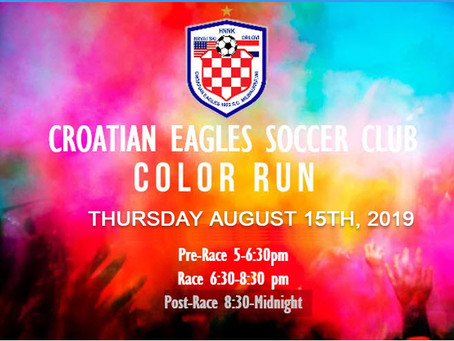Croatian Eagles First Color Run                        Proudly Sponsored By