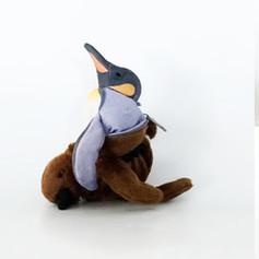 Three Transforming Stuffed Penguin