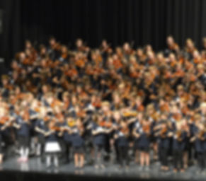 Violin group playing