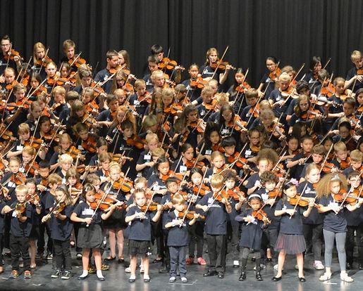 Geige spielen in Gruppen