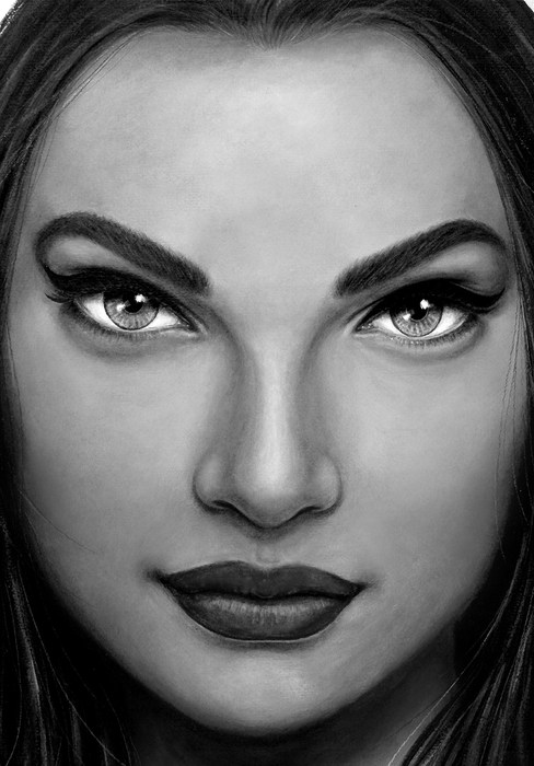 face 4 by Artist illustrator Siew Gratto