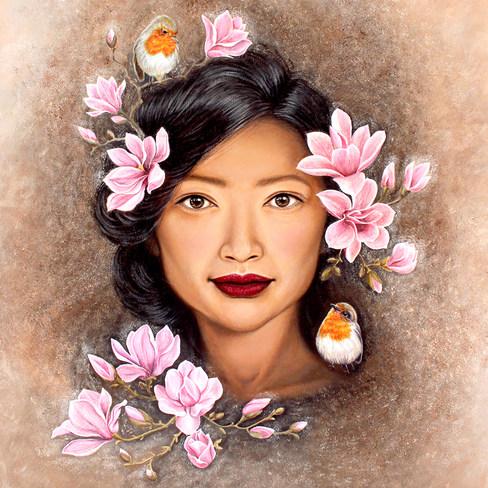 Bird Whisperer by Artist illustrator Sie