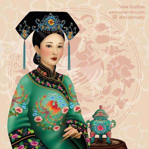 Qing Dynasty Lady / Costume Artwork