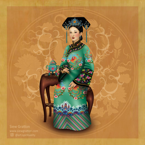 Qing Dynasty Manchurian Noble Lady Empre