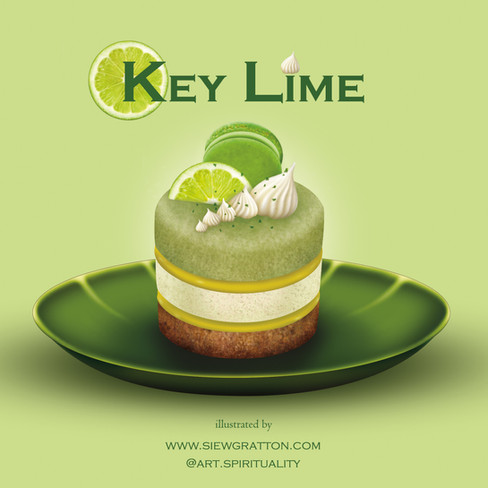 Key Lime Pie Cake Food Illustrated by Si