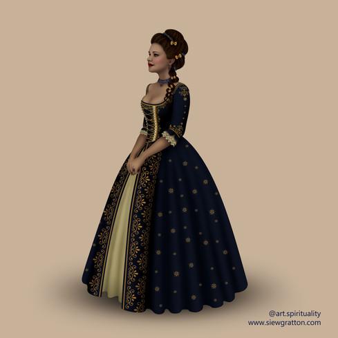 18th Century Fashion illustration by Sie