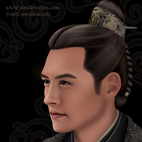 Chinese period drama male character - art by Siew Gratton