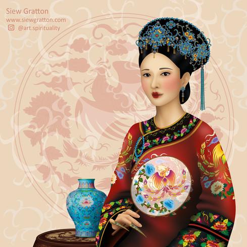 Qing Lady - Red - Close up.jpg