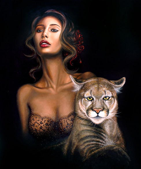 The Lioness by Artist illustrator Siew G