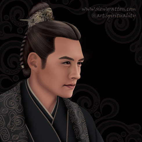 Ancient Chinese Man Qin Dynasty Inspired - art by Siew Gratton