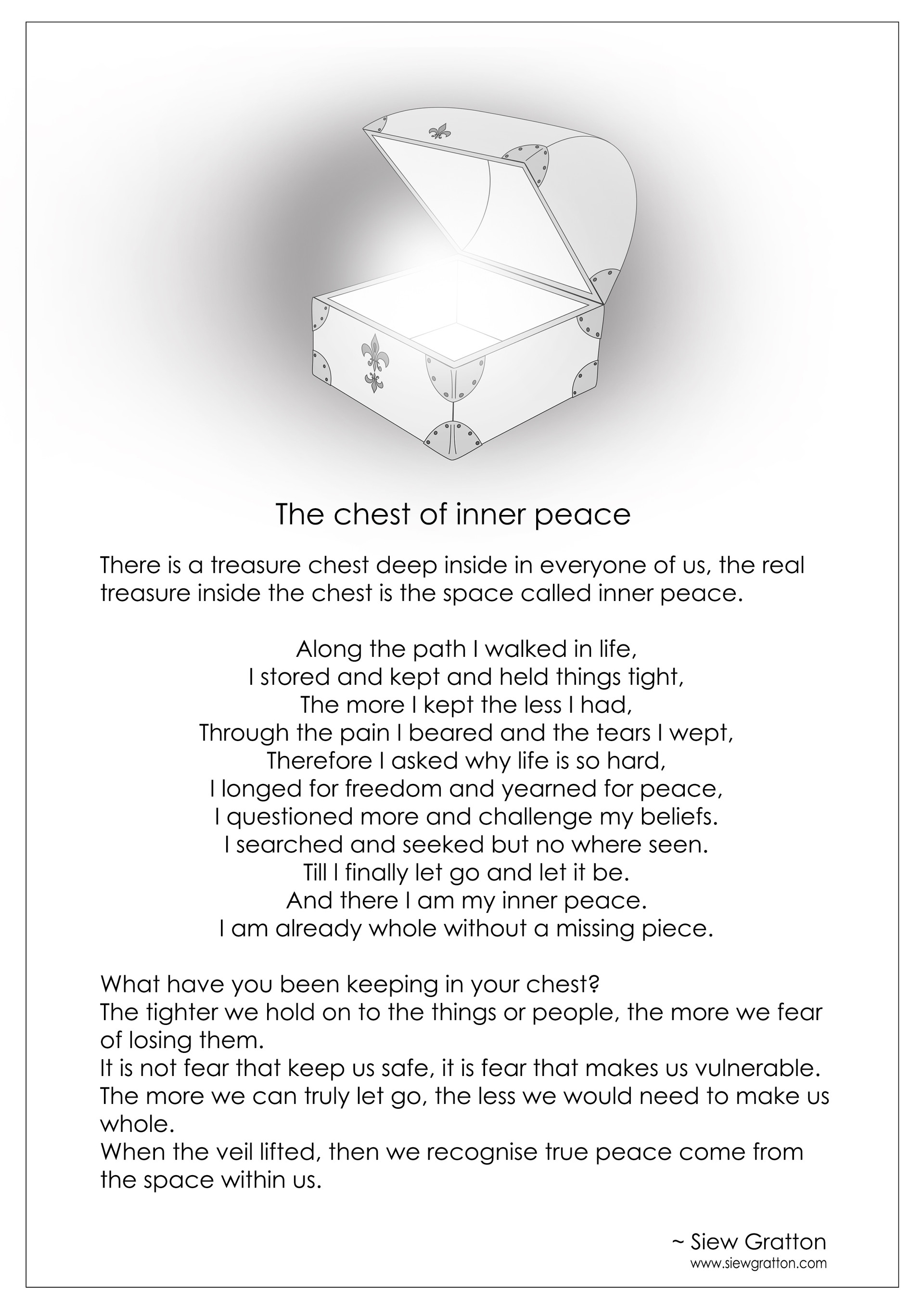 The Chest Of Inner Peace by Siew Gratton