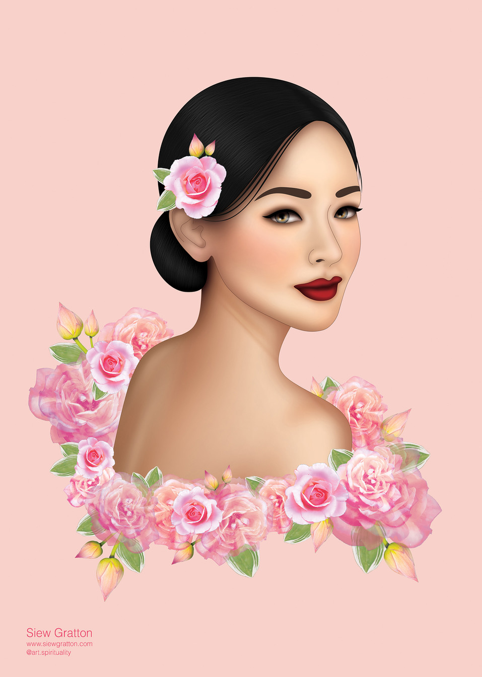 Pink Flower Blossom Beautiful Lady Girl