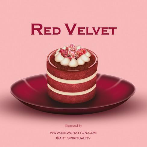 Red Velvet Cake Illustrated by Siew Grat