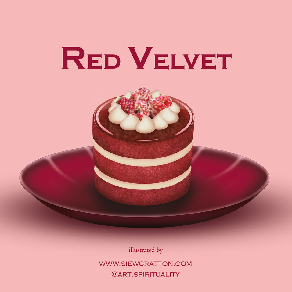 Red Velvet Cake Illustrated by Siew Grat