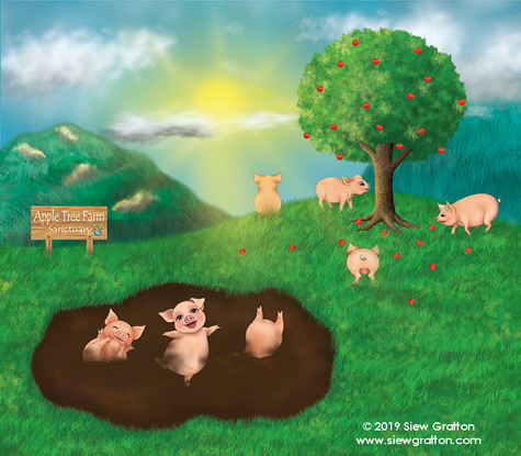 Artwork 32 - Happy Ending in Apple Farm.