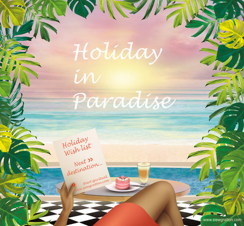 Holiday in Paradise art illustration by
