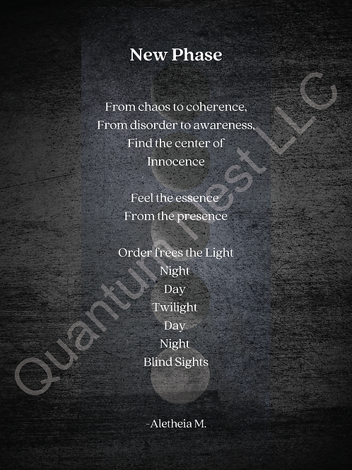 """New Phase Poem (18"""" x 24"""") Poster Size"""
