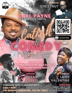 Catfish and Comedy Show Event Flyer 2