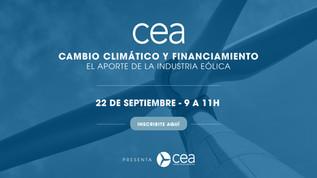 2° WEBINAR DE LA CEA: CAMBIO CLIMÁTICO Y FINANCIAMIENTO: EL APORTE DE LA INDUSTRIA EÓLICA