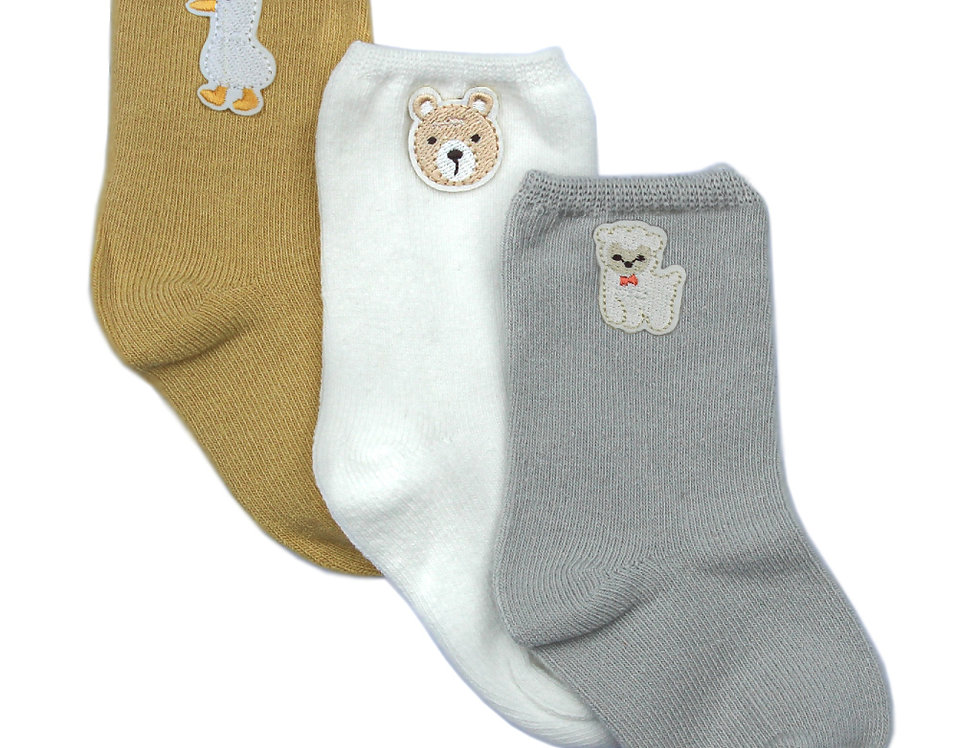 Yellow Animal Patch Sock Pack