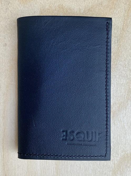 Porte-carte en cuir aperçu fermé
