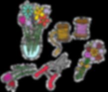 Pick and arrange flowers