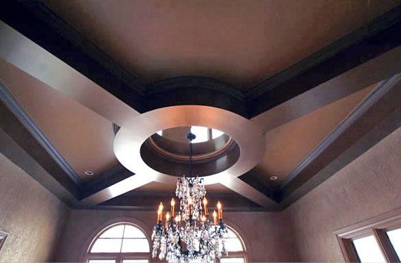 Custom Ceiling & Chandelier