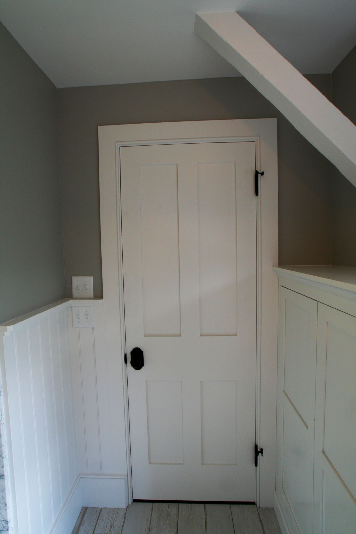 After: Master Bathroom, Door Trim