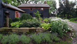 Landscape Design with Stone Wall