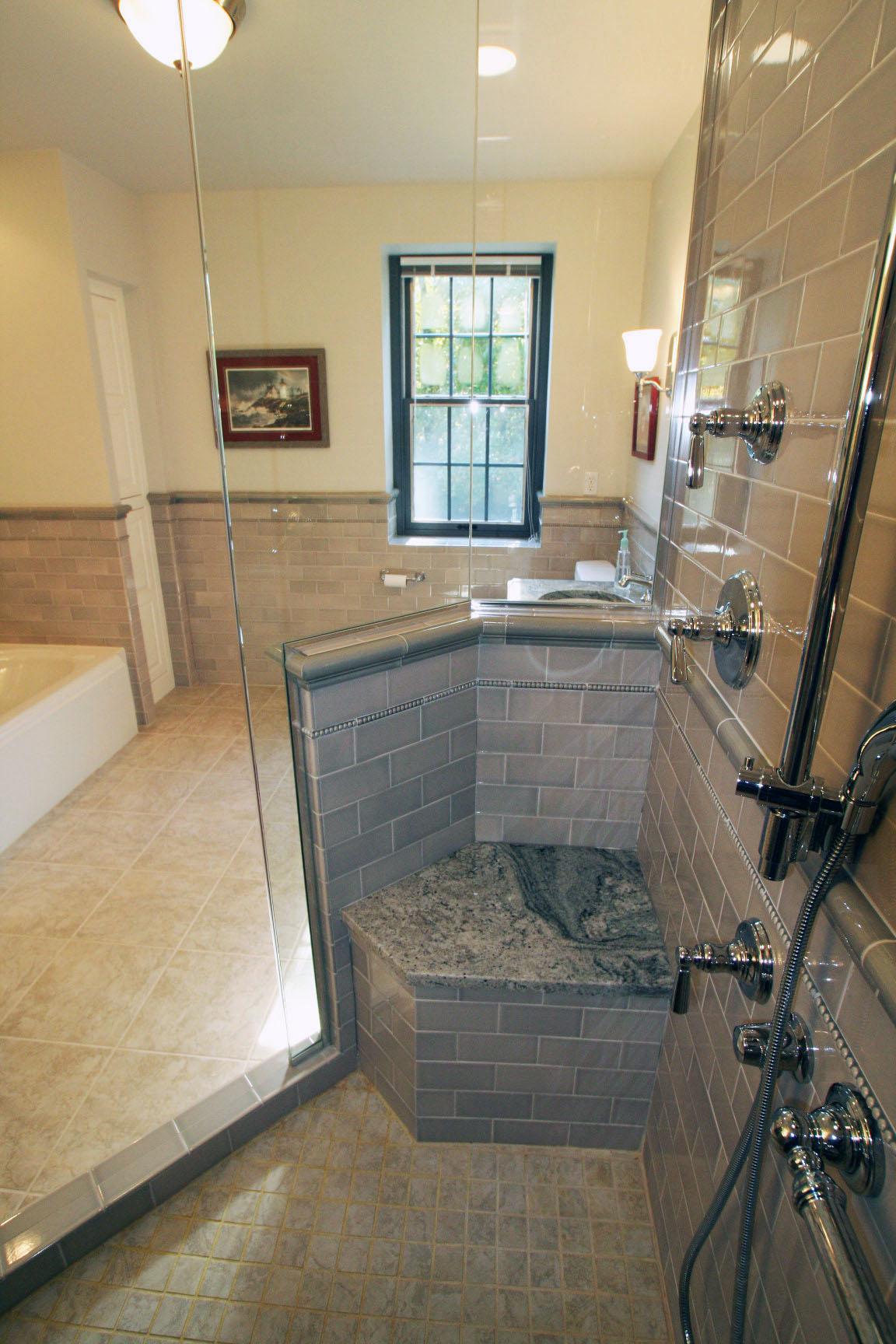 New Master Bath, Shower & Seat