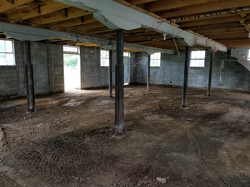 Concrete Floor Removed in Barn House
