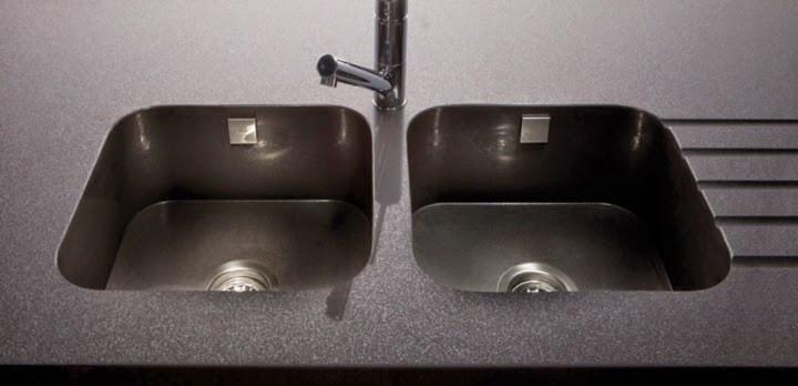 Integrated Quartz Sink, Image courtesy of Silestone