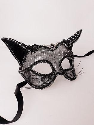 Masque petit chat plumettis