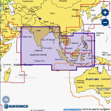 Navionics 31XG INDIAN OCEAN & SOUTH CHINA SEA Индийский океан и Южно-Китайское м