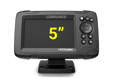 Lowrance Hook Reveal 5 с датчиком 50/200 HDI
