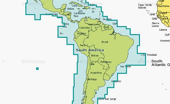 Navionics 3XG CENTRAL & SOUTH AMERICA Центральная и Южная Америка
