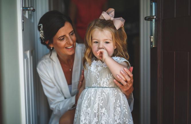Bride & Flower girl