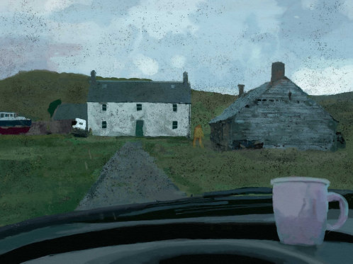 the Irish house seen from my car