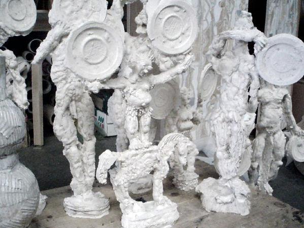 couzijn van leeuwen, gips, sculpture