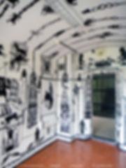 de cel. Couzijn van Leeuwen, cuttings, knipsels, papier, paper wallpaper