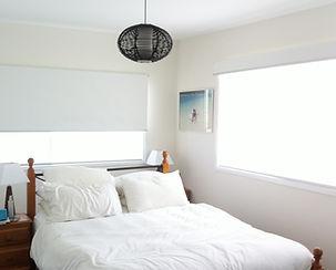 roller blinds on bedroom window, blockout roller blinds, sunscreen blinds, sydney blinds, light filtering blinds, holland blinds, beach blinds