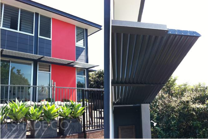 Custom made louvre awnings | BASIX Awnings by Shadeco
