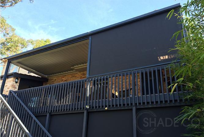Straight drop awning | Clear PVC blind | PVC awning | Vertical outdoor blind | Zipscreen | Ziptrak